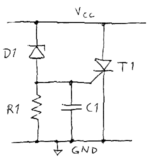 Basic crowbar circuit