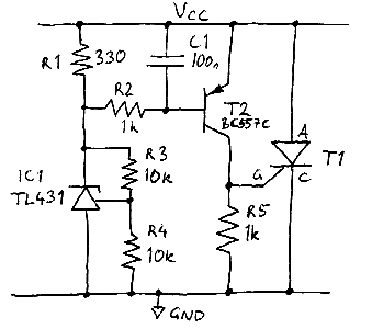 Precision crowbar circuit
