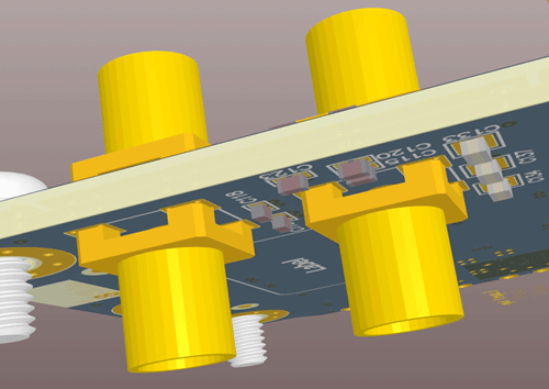 3D side view of the layout
