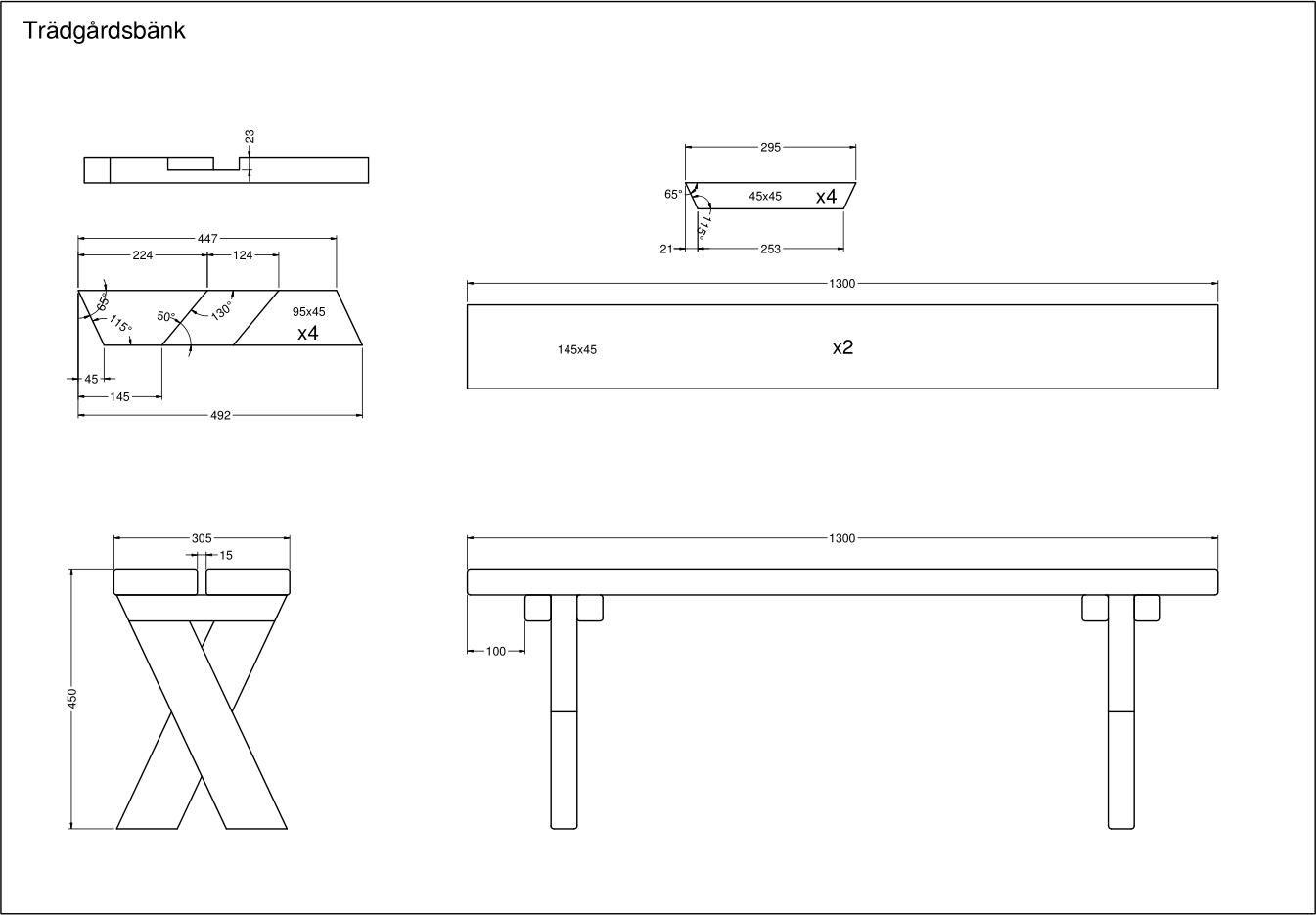 Buztic.com | ritning bänk med bord ~ Design Inspiration für die ... : bygga bord ritning : Inredning