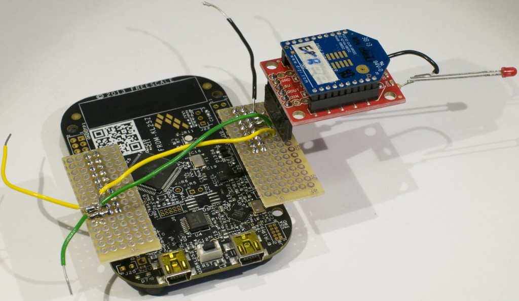 XBee module connected to a FRDM-KL25Z board.