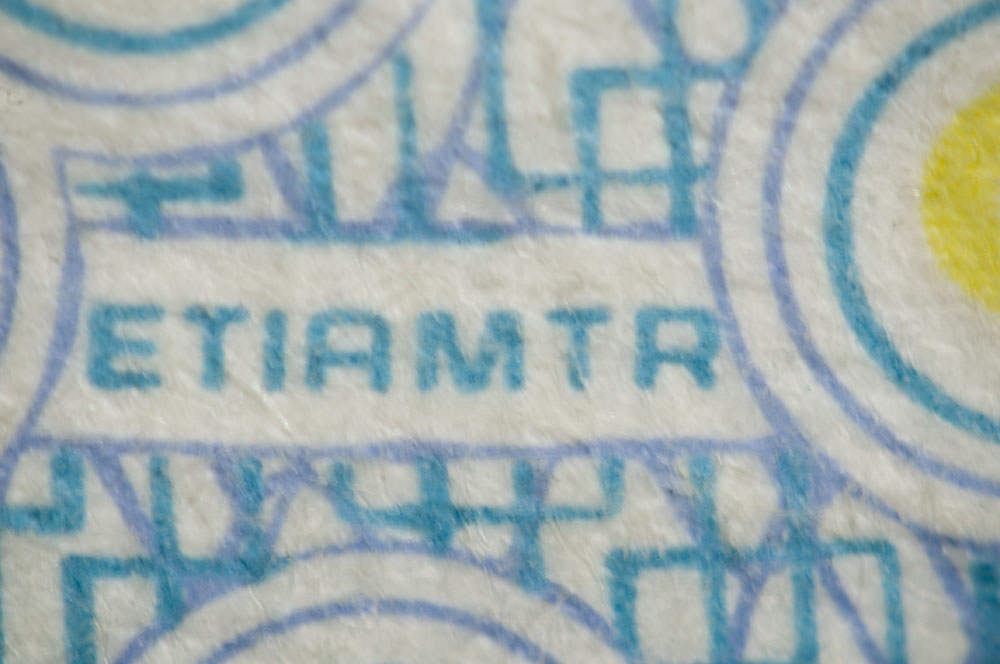 Detail from a 100 kr bill.