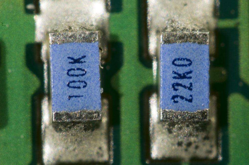 Two 0603 resistors.