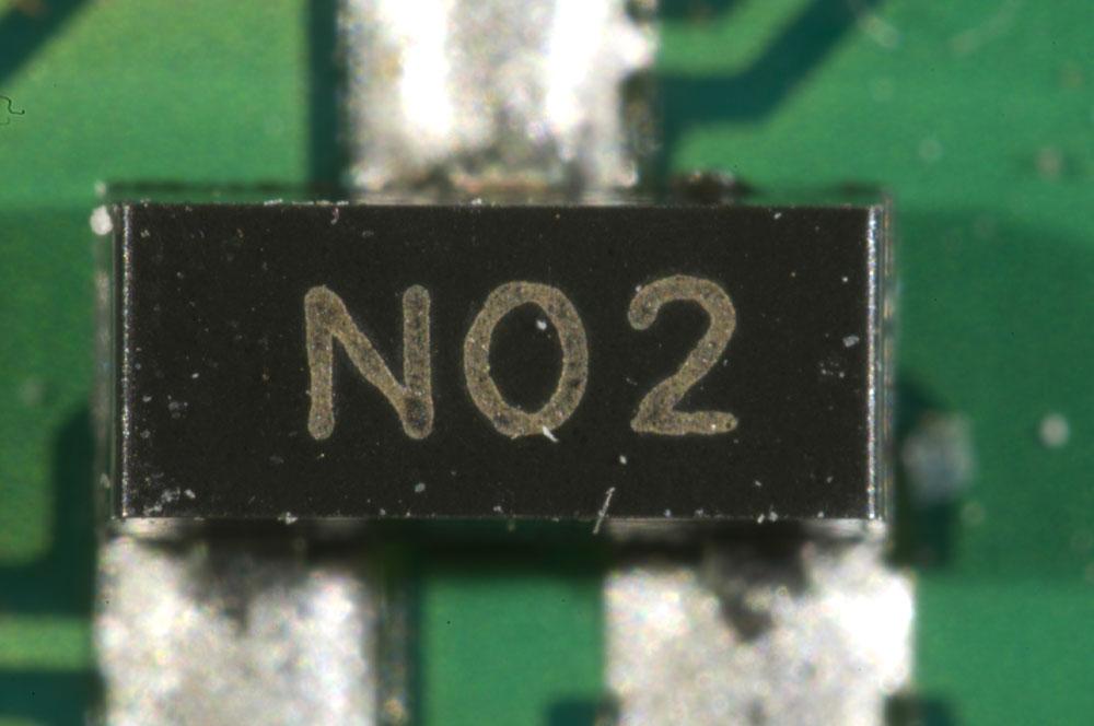 A SOT23 component.