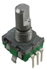 A rotary encoder.
