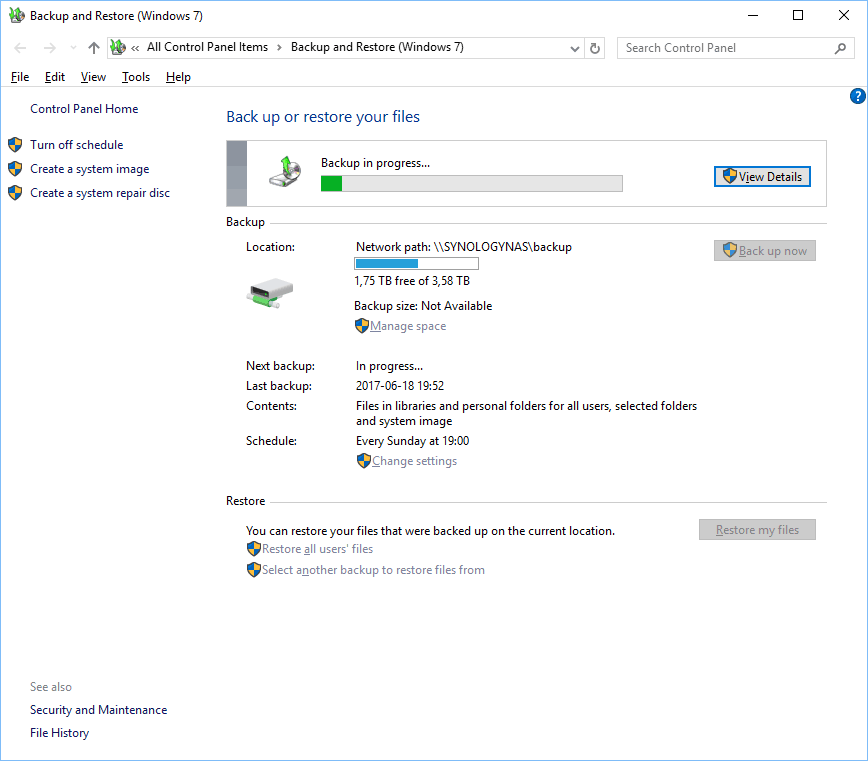 How to view the status of a Windows 10 backup | Axotron Blog