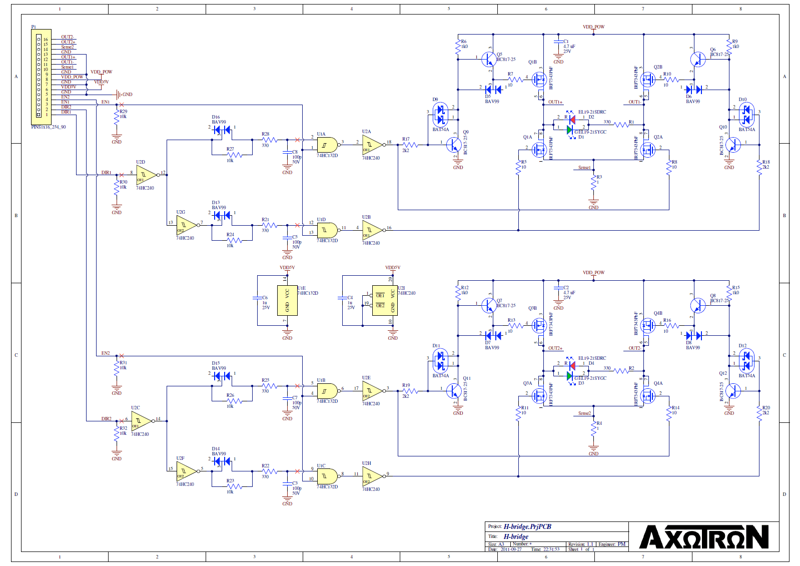 Axotron Bridge Project Circuit Diag Timing Circuitry